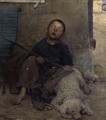 J.Bastien-Lepage, Le colporteur endormi von AKG  Images