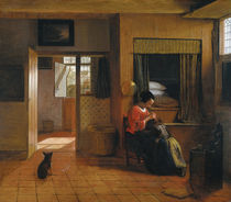 Pieter de Hooch, A Mother's Duty by AKG  Images