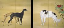 Hashimoto Kansetsu, Europäische Hunde von AKG  Images