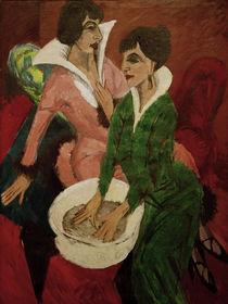 E.L.Kirchner, Zwei Frauen mit Waschbecken von AKG  Images
