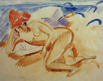 Ernst Ludwig Kirchner, Nude with red hat by AKG  Images