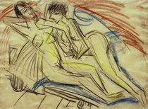 Ernst Ludwig Kirchner, Two naked girls on the bed by AKG  Images