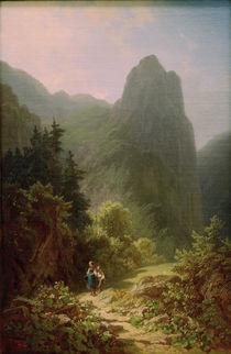 C.Spitzweg, Bergschüler am Ammerg. Kofel von AKG  Images