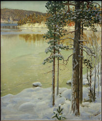 Frozen Lake, Ruovesi / A.Gallen-Kallela / Painting, 1896 by AKG  Images