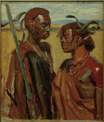A.Gallen-Kallela, Zwei Massai-Krieger by AKG  Images