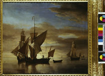 W. v. d. Velde, Fishing Boats at Night by AKG  Images