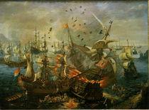 Seeschlacht bei Gibraltar, 1607 / Wieringen von AKG  Images