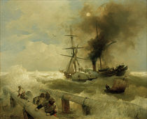 Andreas Achenbach, Seesturm by AKG  Images