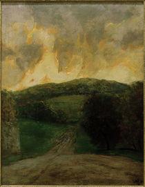 W.Steinhausen, Landschaft bei Wien / Abziehendes Wetter von AKG  Images