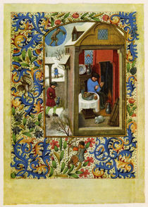 Dresden Prayer Book / January /  c. 1500 by AKG  Images