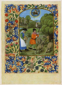 Mstr. Dresdener Gebetsbuch / November/1500 von AKG  Images