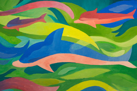 Dolphins-painting