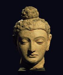 Kopf eines Buddha / Gandhara-Kunst by AKG  Images