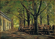 M.Liebermann, Biergarten in Brannenburg von AKG  Images
