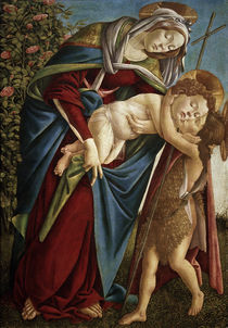 Sandro Botticelli, Madonna and Child with John the Baptist as a Child by AKG  Images