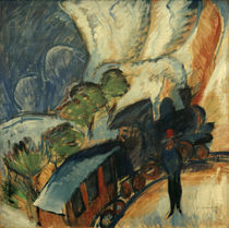 E.L.Kirchner, Rhaetian Railway / painting by AKG  Images