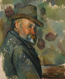 Paul Cézanne, Selbstbildnis mit Filzhut by AKG  Images