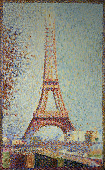 G.Seurat, The Eiffel Tower / Paint./ 1889 by AKG  Images