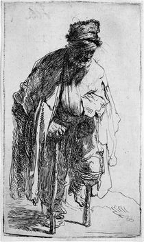 Rembrandt, Beggar with Wooden Leg / Etch. by AKG  Images