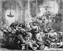 Rembrandt, Driving Merchants fr. Temple by AKG  Images