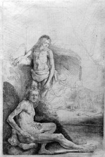 Rembrandt, Zwei männliche Akte von AKG  Images