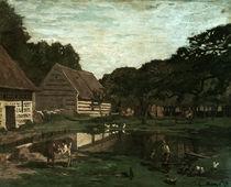 C.Monet, Gehöft in der Normandie von AKG  Images