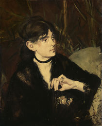 Berthe Morisot with fan / Manet / 1874 by AKG  Images