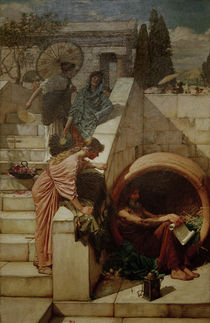 Diogenes / Painting by J.W.Waterhouse by AKG  Images