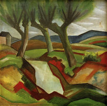 August Macke, Weiden am Bach von AKG  Images