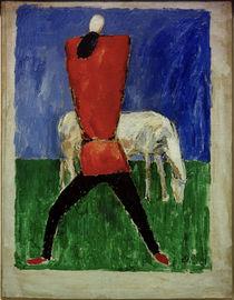 K.Malewitsch, Mann und Pferd von AKG  Images
