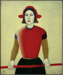 K.Malewitsch, Mädchen mit rotem Stab von AKG  Images