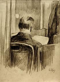 L.Ury, Leser im Café by AKG  Images