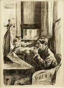 L.Ury, Rauchender Herr im Café I von AKG  Images
