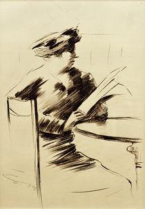 L.Ury, Lesende Dame im Kaffee II by AKG  Images