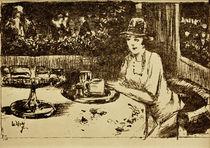 L.Ury, Im Kaffeehaus. Dame am Tisch auf der Veranda by AKG  Images