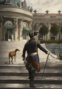 Frederick the Great at Sanssouci / after Schöbel / Collotype Print by AKG  Images