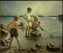 A.Edelfelt, Spielende Knaben an der Küste by AKG  Images