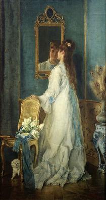 Alfred Stevens, Mädchen vor dem Spiegel von AKG  Images
