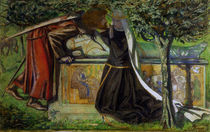 Lancelot at King Arthur's tomb / Rossetti by AKG  Images