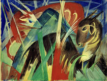 Franz Marc, Imaginary animals I by AKG  Images
