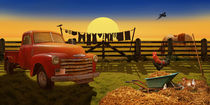 Landleben Nostalgie mit Oldtimer Pick-up  by Monika Juengling