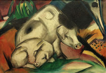 Franz Marc, Pigs (Sow) by AKG  Images
