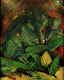Franz Marc / Boar and Sow (wild boars) / Painting, 1913 by AKG  Images