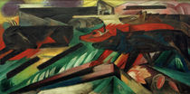 Franz Marc / The Wolves (Balkan War) / Painting, 1913 by AKG  Images