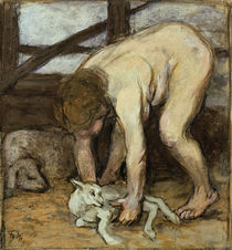 Franz Marc, Nude with Kid by AKG  Images