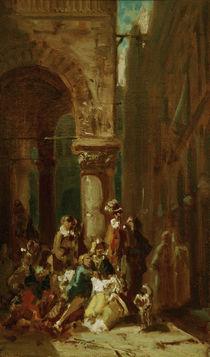 Travelling Actors / C. Spitzweg / Painting c.1860 by AKG  Images