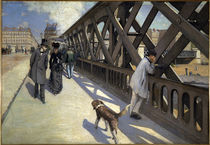 Paris / Pont de l'Europe / Painting by AKG  Images