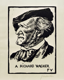Richard Wagner, composer, portrait / woodcut by AKG  Images