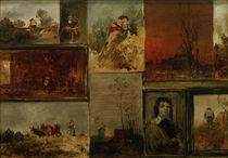 W.Busch, Sammelbild mit 9 Studien von AKG  Images