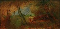 W.Busch, Herbstliche Waldwiese mit Kühen von AKG  Images